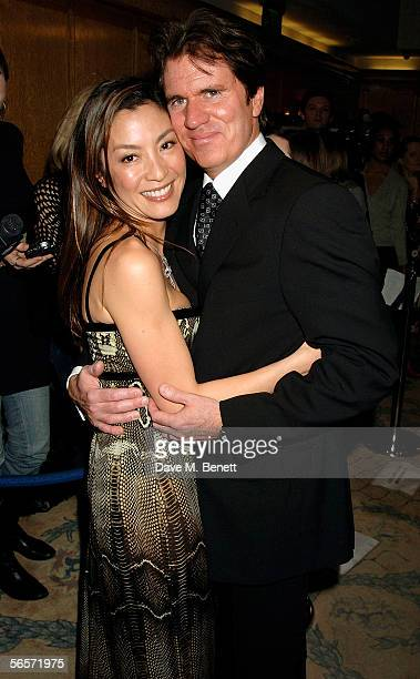 Actress Michelle Yeoh and director Rob Marshall arrive at a drinks reception prior to the UK Premiere of 'Memoirs Of A Geisha' at the Washington...