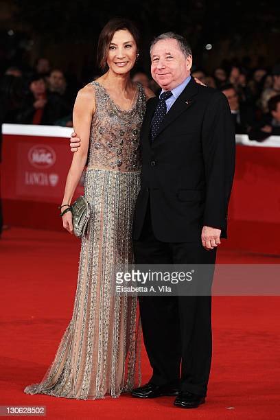 Actress Michelle Yeoh and Jean Todt attend 'The Lady' Premiere and Opening Ceremony during 6th International Rome Film Festival at Auditorium Parco...