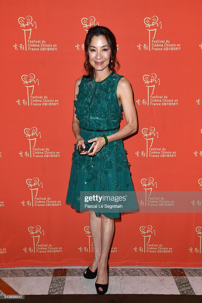 Actress <a gi-track='captionPersonalityLinkClicked' href=/galleries/search?phrase=Michelle+Yeoh&family=editorial&specificpeople=223894 ng-click='$event.stopPropagation()'>Michelle Yeoh</a> arrives at the 6th Chinese Film Festival : Cocktail at Hotel Meurice on June 30, 2016 in Paris, France.