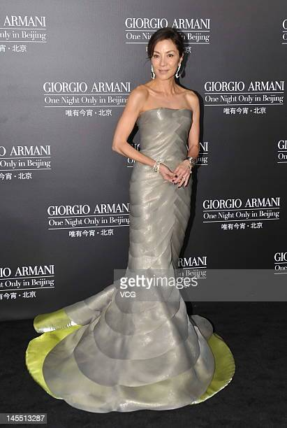 Actress Michelle Yeoh attends Armani fashion show at 798 Art Zone on May 31 2012 in Beijing China