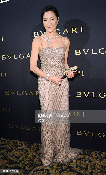 Actress Michelle Yeoh attends Bvlgari promotional event at Shin Kong Place on January 29 2013 in Beijing China