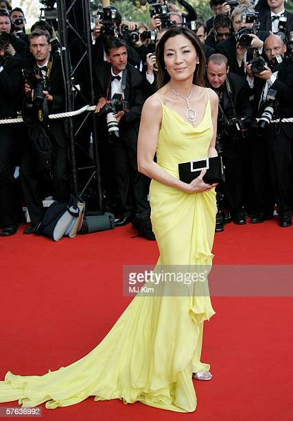 Actress Michelle Yeoh attends 'The Da Vinci Code' World Premiere Opening Gala at the Palais during the 59th International Cannes Film Festival May 17...