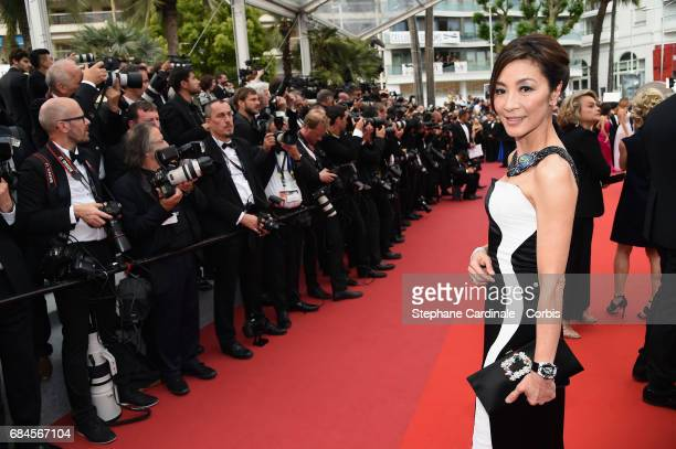 Actress Michelle Yeoh attends the 'Loveless ' screening during the 70th annual Cannes Film Festival at Palais des Festivals on May 18 2017 in Cannes...