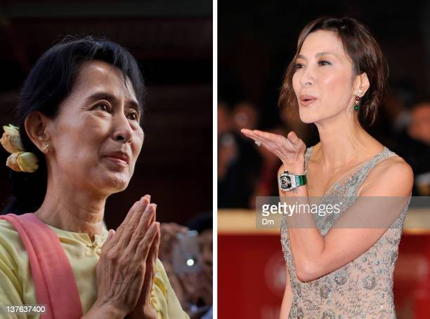In this composite image a comparison has been made between Aung San Suu Kyi and actress Michelle Yeoh Oscar hype continues this week with the...