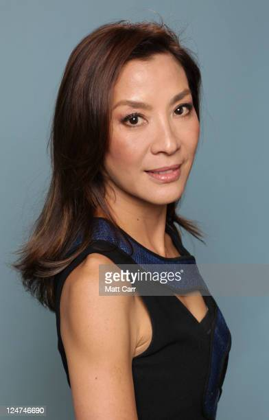 Actress Michelle Yeoh of 'The Lady' poses during the 2011 Toronto Film Festival at Guess Portrait Studio on September 12 2011 in Toronto Canada
