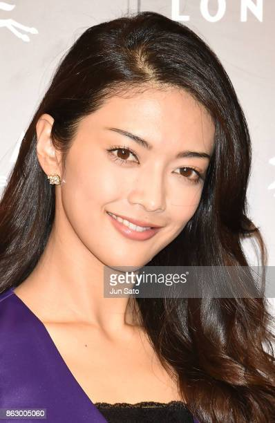 Actress Michiko Tanaka attends the opening ceremony of Longchamp La Maison Omotesando flagship store on October 19 2017 in Tokyo Japan