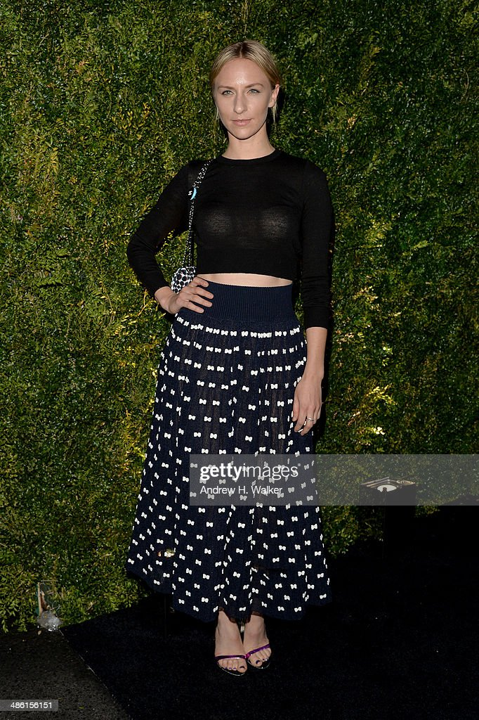 Actress <a gi-track='captionPersonalityLinkClicked' href=/galleries/search?phrase=Mickey+Sumner&family=editorial&specificpeople=665557 ng-click='$event.stopPropagation()'>Mickey Sumner</a> attends the Chanel Tribeca Film Festival Artist Dinner during the 2014 Tribeca Film Festival at Balthazar on April 22, 2014 in New York City.