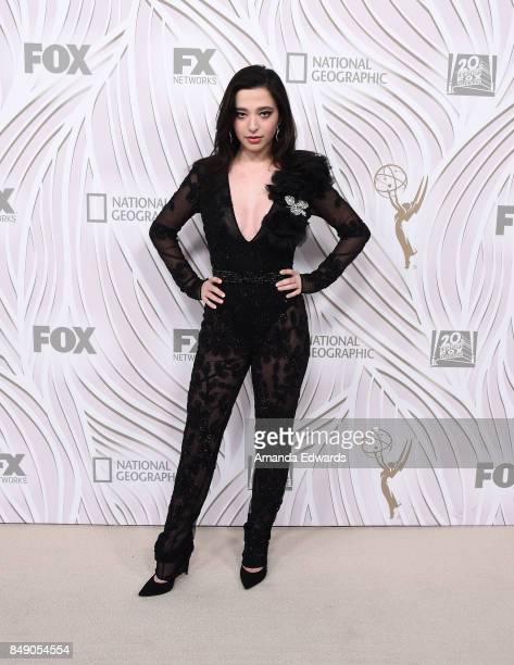 Actress Mikey Madison arrives at the FOX Broadcasting Company Twentieth Century Fox Television FX and National Geographic 69th Primetime Emmy Awards...
