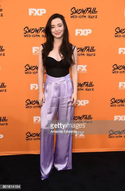 Actress Mikey Madison arrives at the premiere of FX's 'Snowfall' at The Theatre at Ace Hotel on June 26 2017 in Los Angeles California