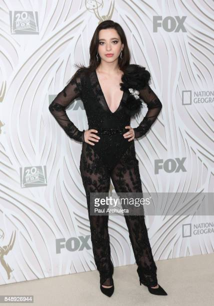 Actress Mikey Madison attends the FOX Broadcasting Company Twentieth Century Fox Television FX and National Geographic 69th primetime Emmy Awards...