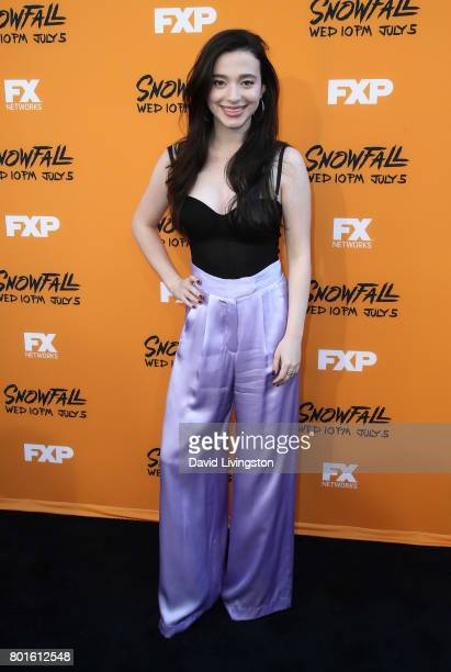 Actress Mikey Madison attends the premiere of FX's 'Snowfall' at The Theatre at Ace Hotel on June 26 2017 in Los Angeles California