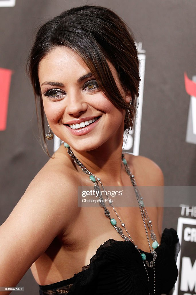 Actress <a gi-track='captionPersonalityLinkClicked' href=/galleries/search?phrase=Mila+Kunis&family=editorial&specificpeople=212845 ng-click='$event.stopPropagation()'>Mila Kunis</a> arrives at the 16th annual Critics' Choice Movie Awards at the Hollywood Palladium on January 14, 2011 in Los Angeles, California.