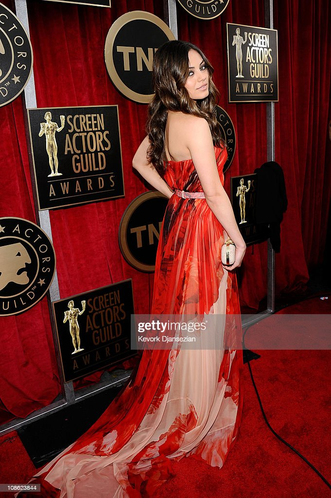 Actress Mila Kunis arrives at the 17th Annual Screen Actors Guild Awards held at The Shrine Auditorium on January 30 2011 in Los Angeles California