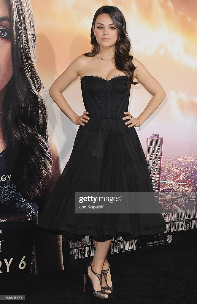 Actress <a gi-track='captionPersonalityLinkClicked' href=/galleries/search?phrase=Mila+Kunis&family=editorial&specificpeople=212845 ng-click='$event.stopPropagation()'>Mila Kunis</a> arrives at the Los Angeles Premiere 'Jupiter Ascending' at TCL Chinese Theatre on February 2, 2015 in Hollywood, California