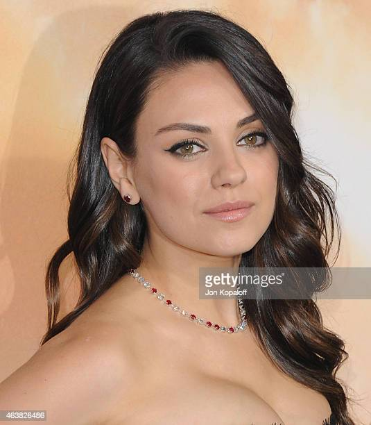Actress Mila Kunis arrives at the Los Angeles Premiere 'Jupiter Ascending' at TCL Chinese Theatre on February 2 2015 in Hollywood California