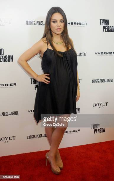 Actress Mila Kunis arrives at the Los Angeles premiere of 'Third Person' at Pickford Center for Motion Study on June 9 2014 in Hollywood California