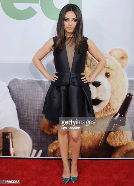 Actress Mila Kunis arrives at the Los Angeles Premiere 'Ted' at Grauman's Chinese Theatre on June 21 2012 in Hollywood California