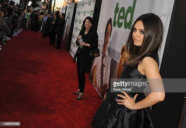 Actress Mila Kunis arrives at the Premiere of Universal Pictures' 'Ted' sponsored in part by AXE Hair at Grauman's Chinese Theatre on June 21 2012 in...