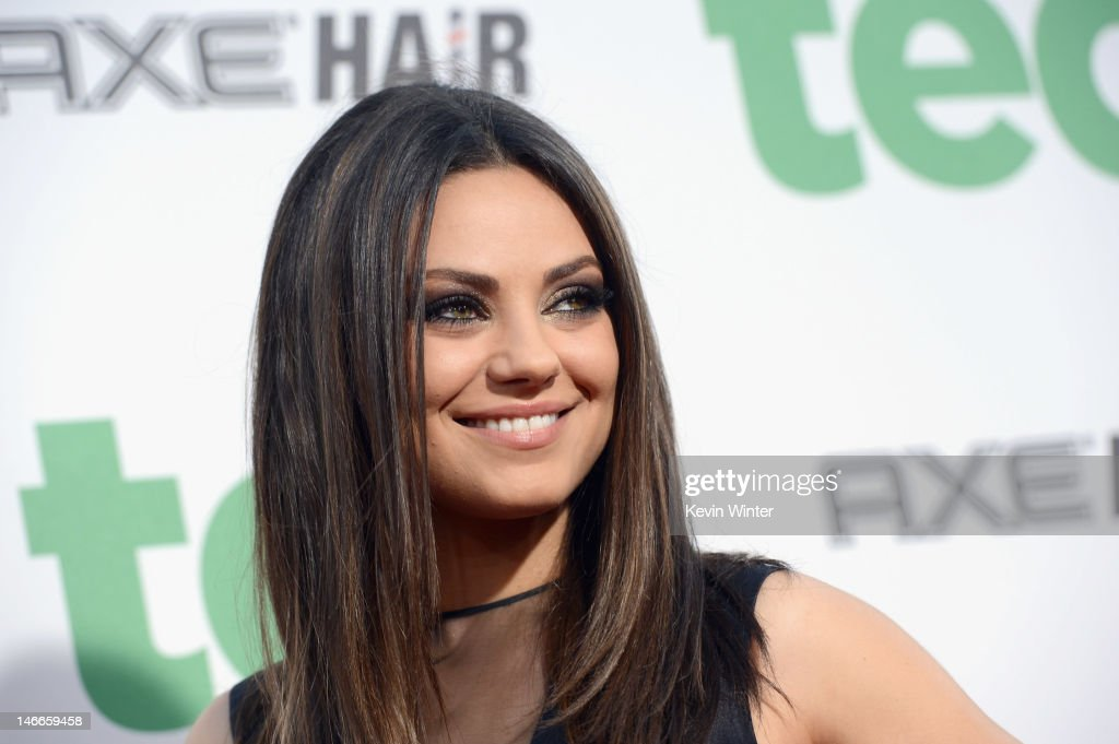 Actress <a gi-track='captionPersonalityLinkClicked' href=/galleries/search?phrase=Mila+Kunis&family=editorial&specificpeople=212845 ng-click='$event.stopPropagation()'>Mila Kunis</a> arrives at the Premiere of Universal Pictures' 'Ted' sponsored in part by AXE Hair at Grauman's Chinese Theatre on June 21, 2012 in Hollywood, California.