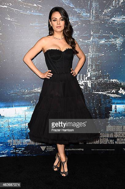 Actress Mila Kunis arrives at the Premiere of Warner Bros Pictures' 'Jupiter Ascending' at TCL Chinese Theatre on February 2 2015 in Hollywood...