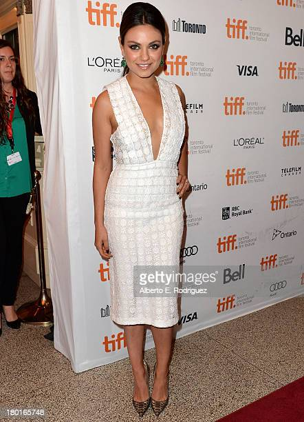 Actress Mila Kunis arrives at the 'Third Person' Premiere during the 2013 Toronto International Film Festival at The Elgin on September 9 2013 in...