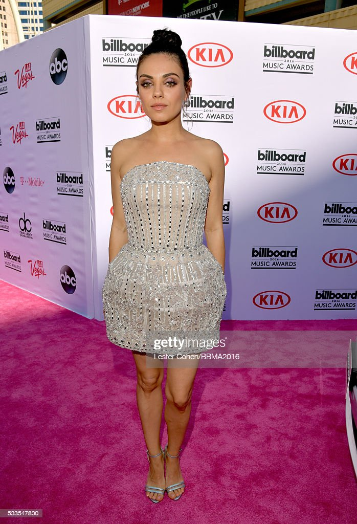 Actress <a gi-track='captionPersonalityLinkClicked' href=/galleries/search?phrase=Mila+Kunis&family=editorial&specificpeople=212845 ng-click='$event.stopPropagation()'>Mila Kunis</a> attends the 2016 Billboard Music Awards at T-Mobile Arena on May 22, 2016 in Las Vegas, Nevada.