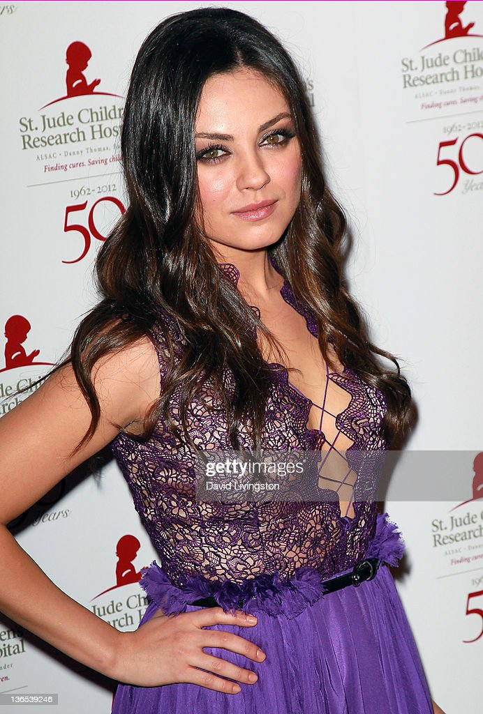 Actress Mila Kunis attends the 50th anniversary celebration for St. Jude Children's Research Hospital at The Beverly Hilton hotel on January 7, 2012 in Beverly Hills, California.