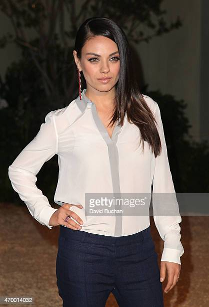 Actress Mila Kunis attends the Burberry 'London in Los Angeles' event at Griffith Observatory on April 16 2015 in Los Angeles California