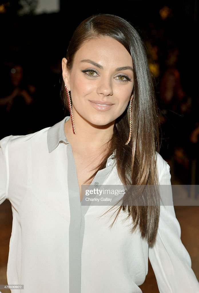 Actress Mila Kunis attends the Burberry 'London in Los Angeles' event at Griffith Observatory on April 16, 2015 in Los Angeles, California.
