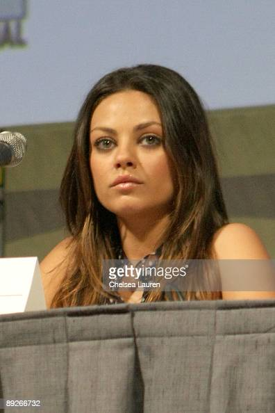Actress Mila Kunis attends the 'EXTRACT' panel on day 3 of the 2009 ComicCon International Convention on July 25 2009 in San Diego California