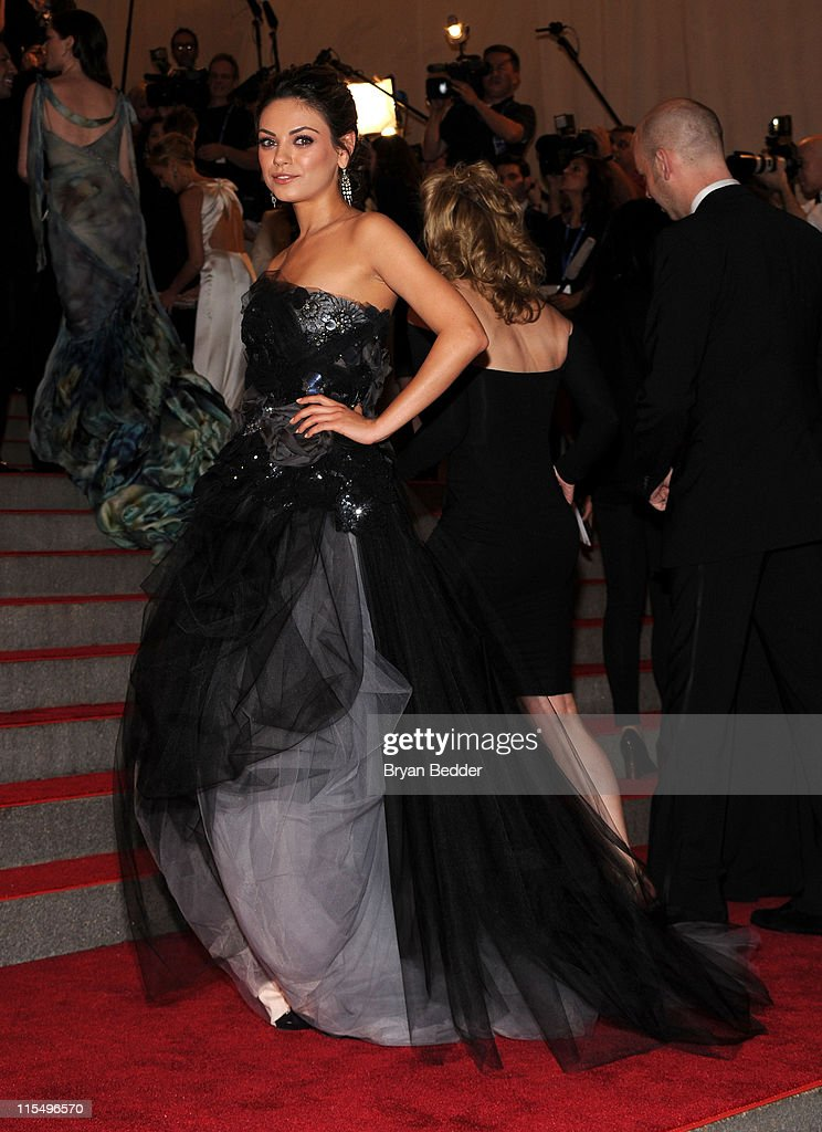Actress <a gi-track='captionPersonalityLinkClicked' href=/galleries/search?phrase=Mila+Kunis&family=editorial&specificpeople=212845 ng-click='$event.stopPropagation()'>Mila Kunis</a> attends the Metropolitan Museum of Art's 2010 Costume Institute Ball at The Metropolitan Museum of Art on May 3, 2010 in New York City.