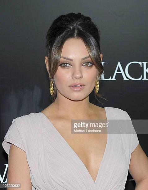 Actress Mila Kunis attends the New York Premiere of 'Black Swan' at Ziegfeld Theatre on November 30 2010 in New York City