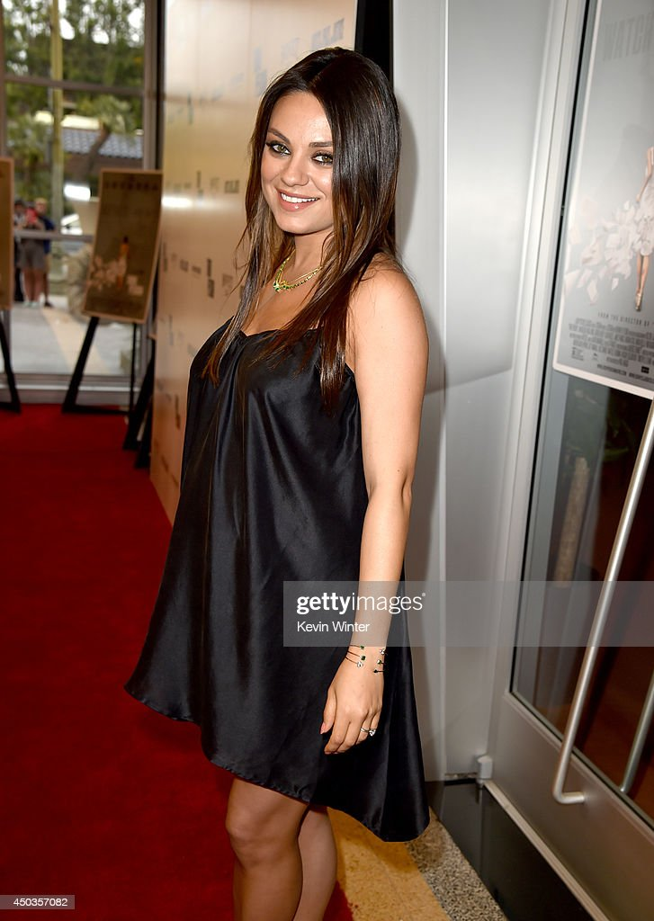 Actress <a gi-track='captionPersonalityLinkClicked' href=/galleries/search?phrase=Mila+Kunis&family=editorial&specificpeople=212845 ng-click='$event.stopPropagation()'>Mila Kunis</a> attends the premiere of Sony Picture Classics' 'Third Person' at Linwood Dunn Theater at the Pickford Center for Motion Study on June 9, 2014 in Hollywood, California.