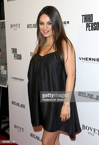 Actress Mila Kunis attends the premiere of Sony Picture Classics' 'Third Person' at Linwood Dunn Theater at the Pickford Center for Motion Study on...