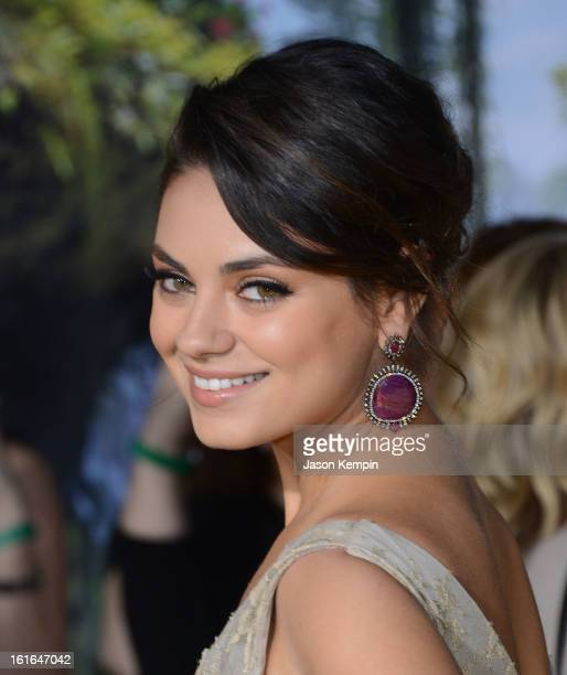Actress Mila Kunis attends the premiere Of Walt Disney Pictures' 'Oz The Great And Powerful' at the El Capitan Theatre on February 13 2013 in...