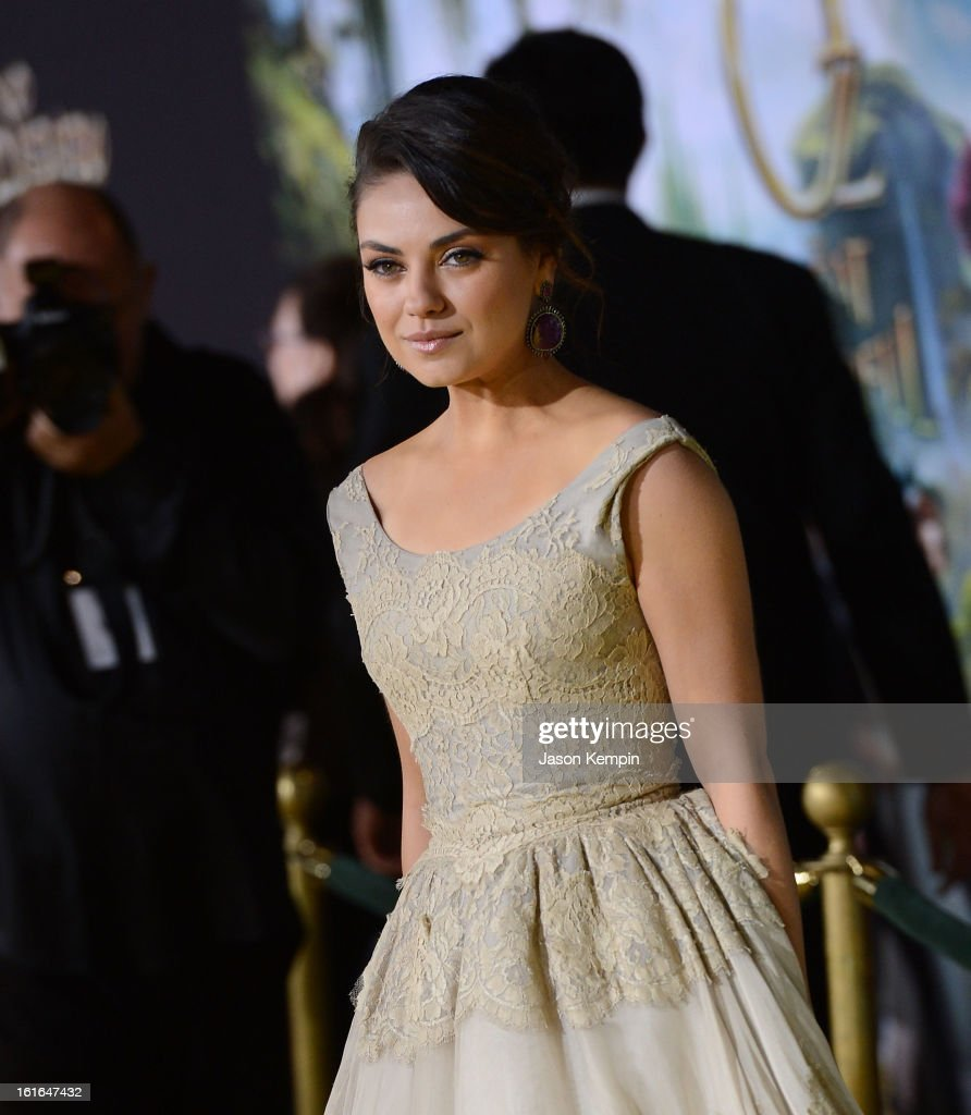 Actress Mila Kunis attends the premiere Of Walt Disney Pictures' 'Oz The Great And Powerful' at the El Capitan Theatre on February 13, 2013 in Hollywood, California.