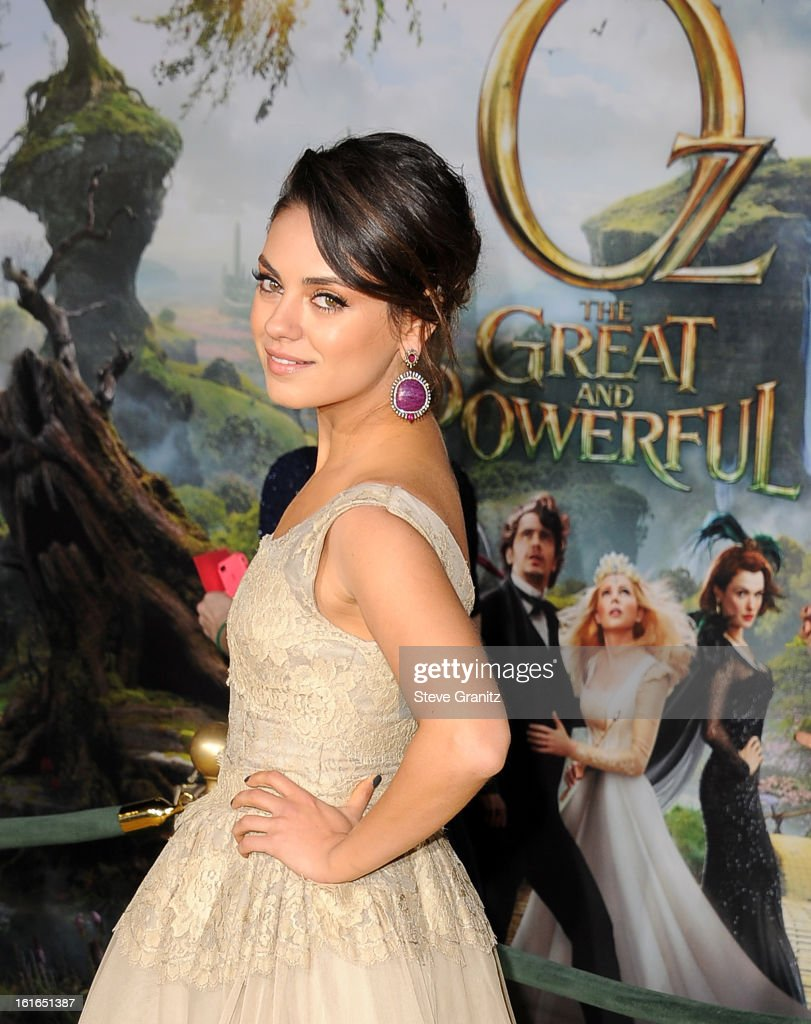 Actress Mila Kunis attends the world premiere of Disney's 'OZ The Great And Powerful' at the El Capitan Theatre on February 13, 2013 in Hollywood, California.