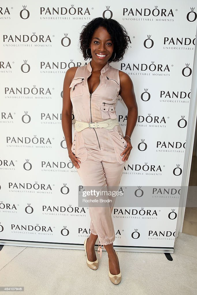 Actress Milauna Jackson attends the HBO Luxury Lounge featuring PANDORA at Four Seasons Hotel Los Angeles at Beverly Hills on August 24 2014 in...