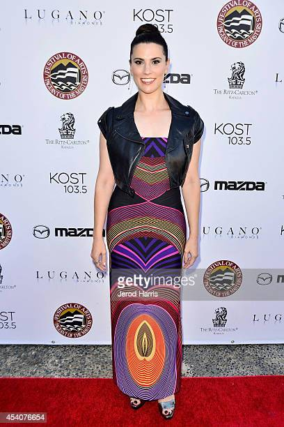 Actress Milena Govich attends the Festival of Arts Celebrity Benefit Concert and Pageant on August 23 2014 in Laguna Beach California