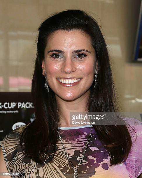 Actress Milena Govich attends the MTV's 'Finding Carter' fan event at BaskinRobbins on August 12 2014 in Burbank California