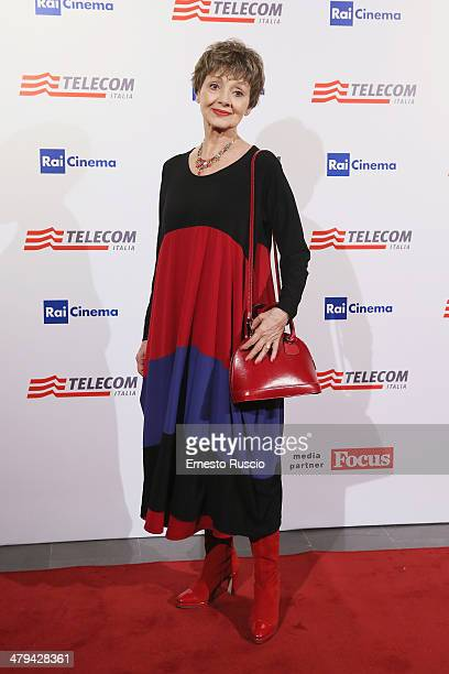 Actress Milena Vukotic attends the 'Noi 4' premiere at The Space Moderno on March 18 2014 in Rome Italy