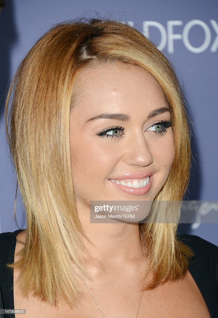 Actress Miley Cyrus arrives at Australians In Film Awards & Benefit Dinner at InterContinental Hotel on June 27, 2012 in Century City, California.