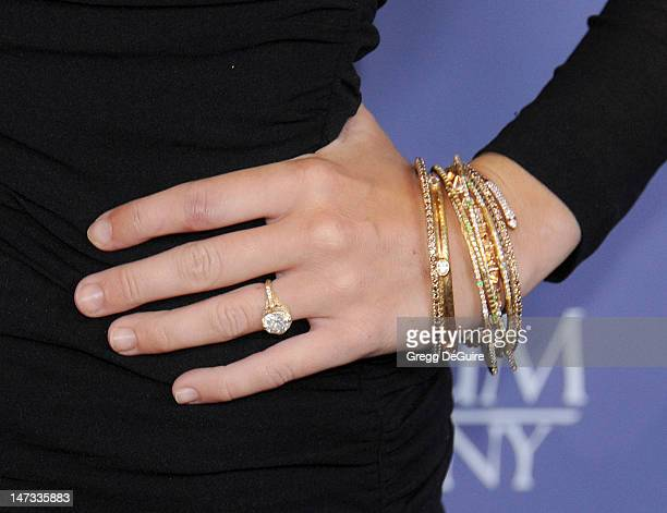 Actress Miley Cyrus arrives at the 8th Annual Australians In Film Breakthrough Awards at InterContinental Hotel on June 27 2012 in Century City...