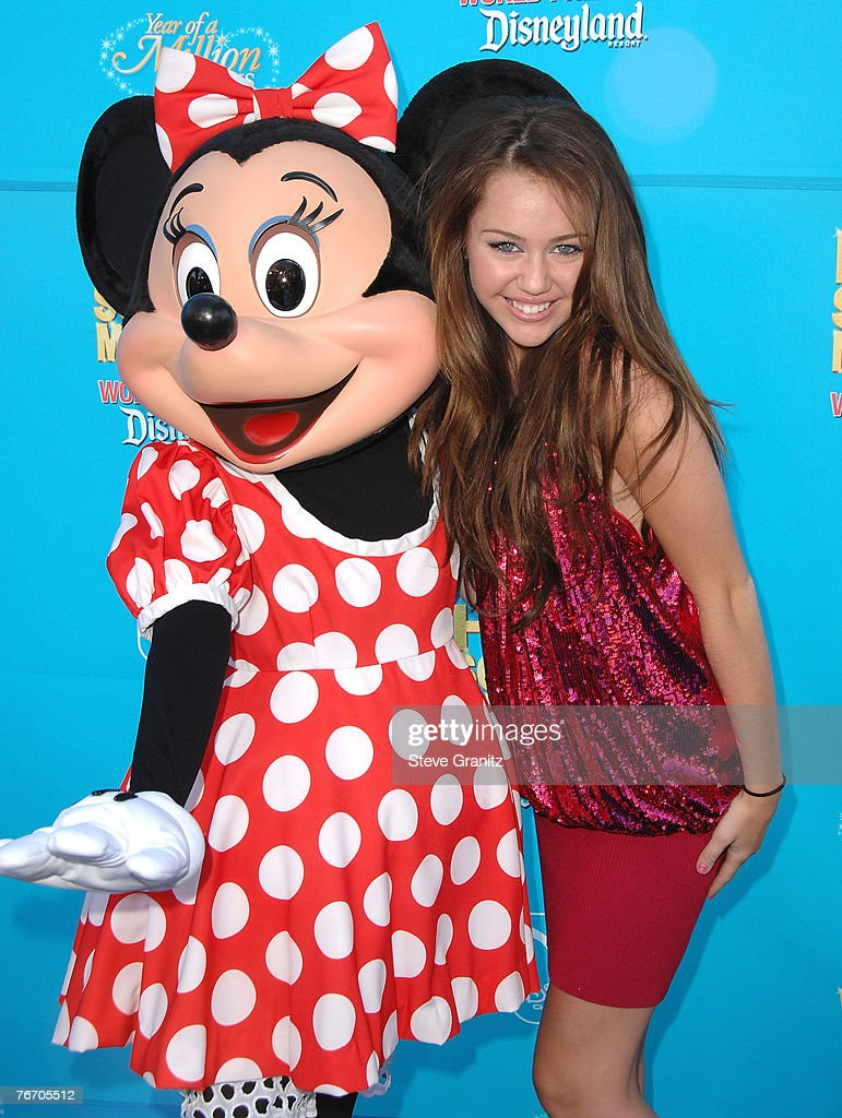 Actress Miley Cyrus arrives at the premiere of 'High School Musical 2' at the Downtown Disney District at Disneyland Resort on August 14, 2007 in Anaheim, California.