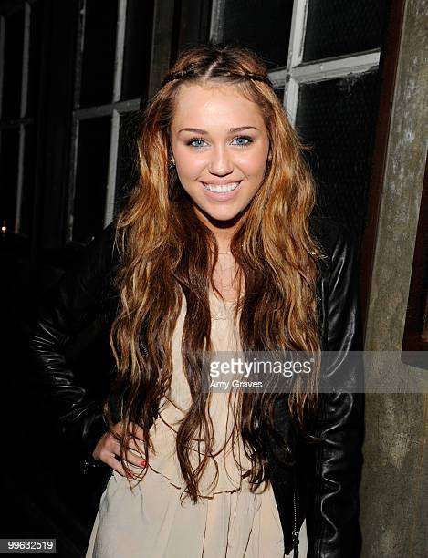 Actress Miley Cyrus attends the Hannah Montana Wrap Party at H Wood on May 16 2010 in Los Angeles California