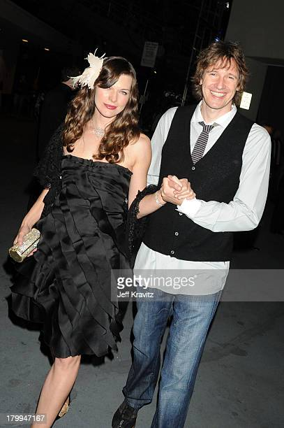 Actress Milla Jovovich and director Paul WS Anderson attend SPIKE TV's Scream 2008 Awards held at the Greek Theatre on October 18 2008 in Los Angeles...