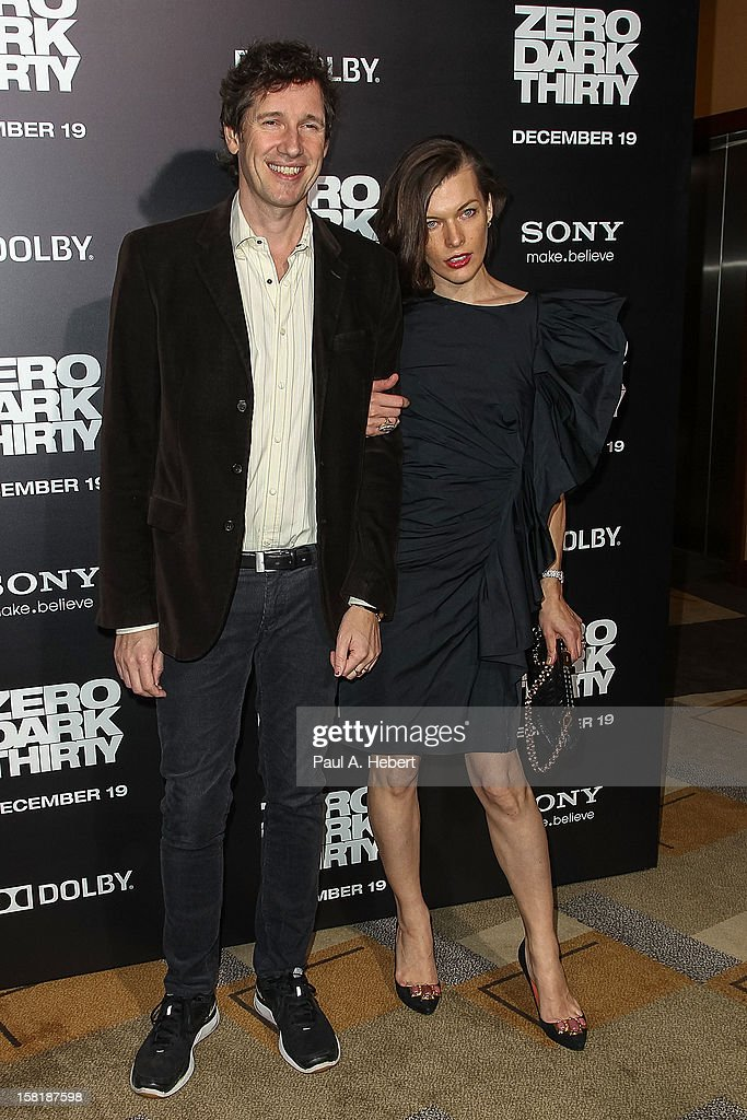 Actress Milla Jovovich and Paul W. S. Anderson arrive at the premiere of Columbia Pictures' 'Zero Dark Thirty' held at the Dolby Theatre on December 10, 2012 in Hollywood, California.