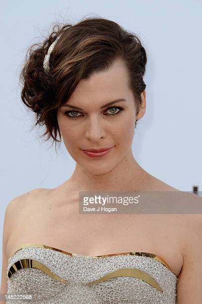Actress Milla Jovovich arrives at the 2012 amfAR's Cinema Against AIDS during the 65th Annual Cannes Film Festival at Hotel Du Cap on May 24 2012 in...