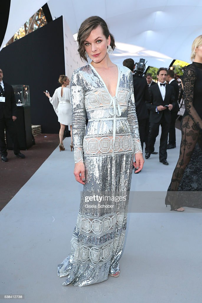 Actress Milla Jovovich arrives at the amfAR's 23rd Cinema Against AIDS Gala at Hotel du CapEdenRoc on May 19 2016 in Cap d'Antibes France
