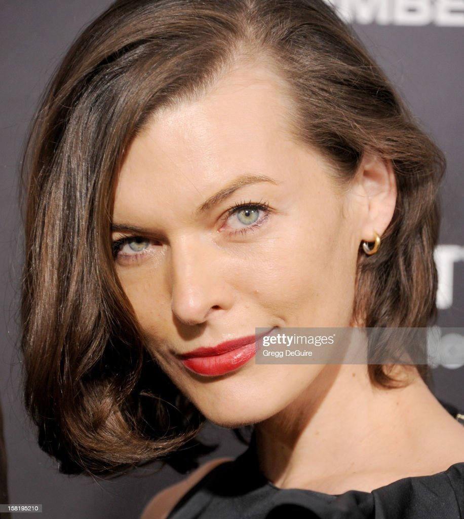 Actress <a gi-track='captionPersonalityLinkClicked' href=/galleries/search?phrase=Milla+Jovovich&family=editorial&specificpeople=202207 ng-click='$event.stopPropagation()'>Milla Jovovich</a> arrives at the Los Angeles premiere of 'Zero Dark Thirty' at the Dolby Theatre on December 10, 2012 in Hollywood, California.